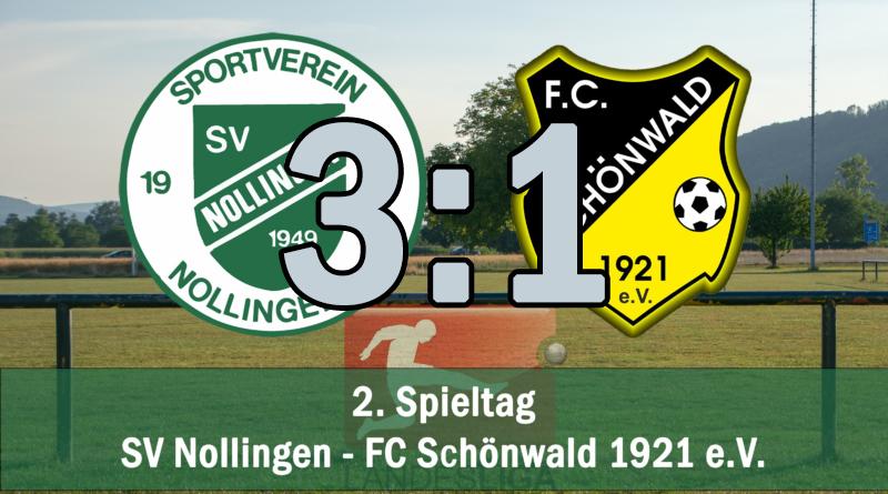 3:1 Heimsieg gegen Schönwald