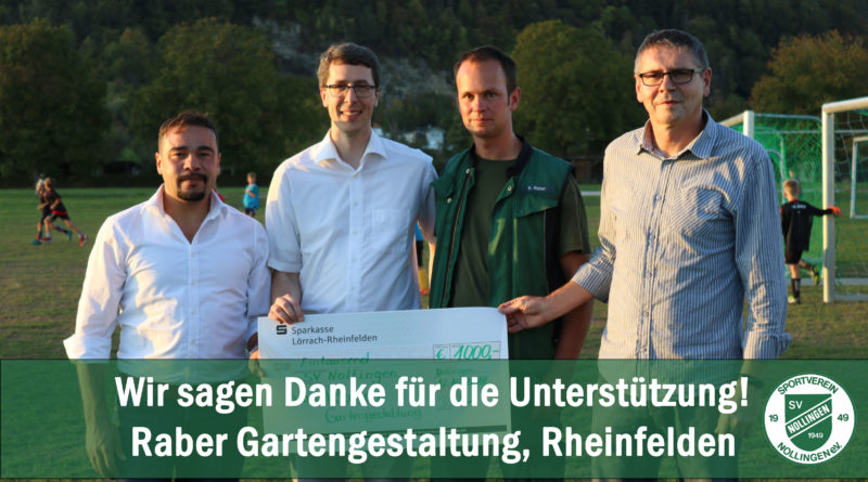 Spende der Firma Raber