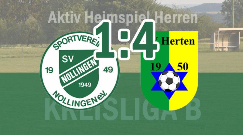 1:4 Niederlage gegen Herten II